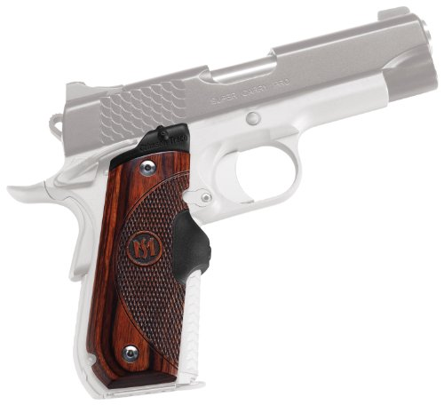 Crimson Trace LG-907 Master Series Lasergrips Red Laser Sight Grips for 1911 Round Heel Pistols - Rosewood