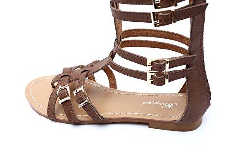 Flip Gracosy Cremallera La Playa Punta Negro Gladiador Tanga Redonda Verano 2019 Peep Cuña Huecos De Para Correa Tobillera Sandalias Zapatos Mujeres Flop Clip Planas 1nqrTxRZP1