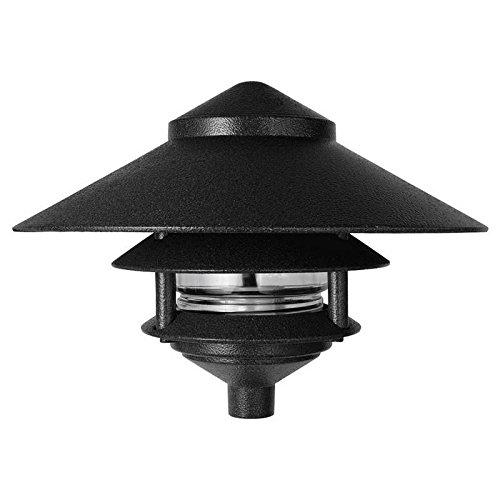 RAB Lighting LL323B Incandescent 3 Tier Lawn Light with 10″ Top, A-19 Type, 75W Power, 1220 Lumens, 120VAC, Black Review