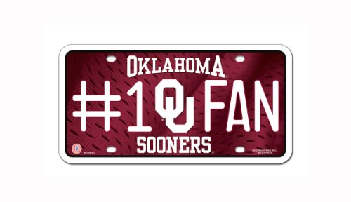 NCAA Oklahoma Sooners #1 Fan Metal Auto - In Malls Oklahoma Outlet