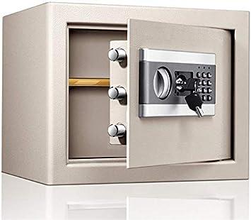 Cabina de seguridad Caja de seguridad 30CM alta y electrónica pequeña caja fuerte Contraseña Safe Deposit Box Office Hogar Seguro Into The Wall Seguros Certificación (Color: Negro, Tamaño: 30x31x37cm): Amazon.es: Electrónica