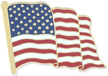 Wizard Pins Premium American Flag Made in USA Hard Enamel