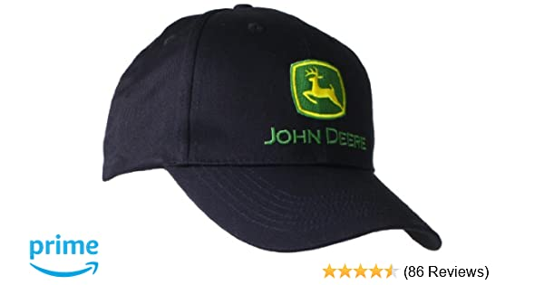John Deere Embroidered Logo Baseball Hat - One-Size - Mens - Black at Amazon Mens Clothing store: John Deere Hat
