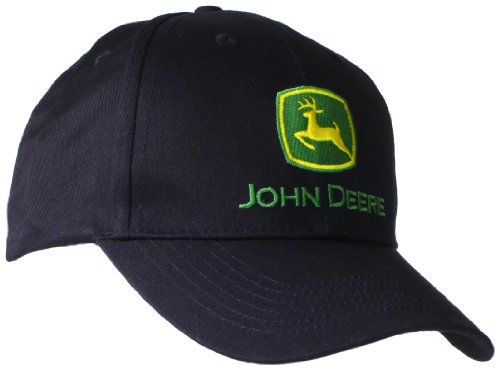 Logo Embroidered Baseball Cap - John Deere Embroidered Logo Baseball Hat - One-Size - Men's - Black