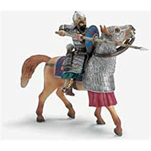 Schleich Soldier With Spike On Horse, Multi Colour