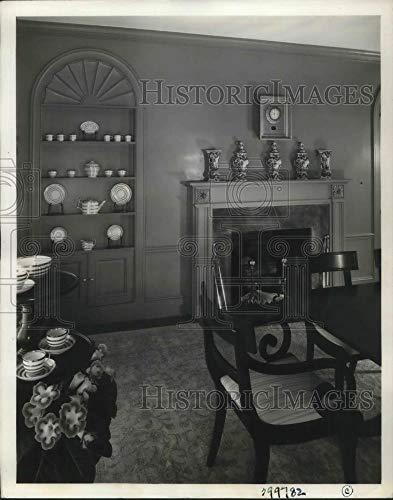 (Historic Images - 1937 Vintage Press Photo Detailing Interior Design of a homeBuilt in Scarsdale, NY)