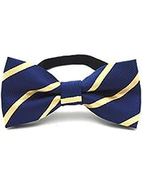 C.X Trendy Adjustable Boys Kids Bow Tie Cute Cartoon Bowties (M6 Blue Yellow)
