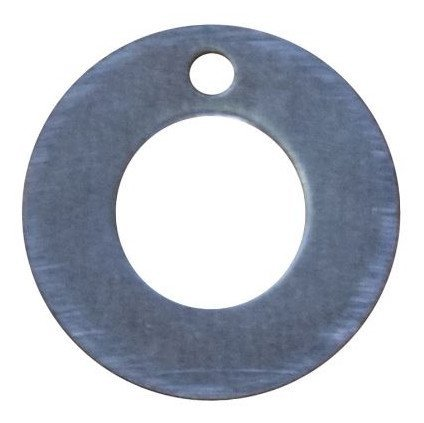 RMP Stamping Blanks, 3/4 Inch Washer with 3/8 Inch Center Hole and Top Hole, Aluminum 0.063 Inch (14 Ga.) - 50 Pack