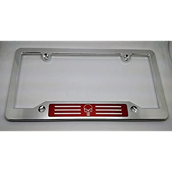 PUNISHER HMC Billet Aluminum License Plate Frame Black Anodized