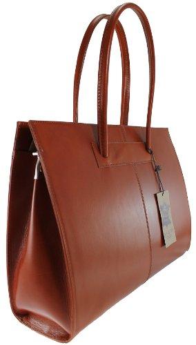 cuir 40x30x12cm MC Fabriqué femmes porte professionnels avec Cuir documents Sac 100 en véritable Italie pour de poignées BqFg4