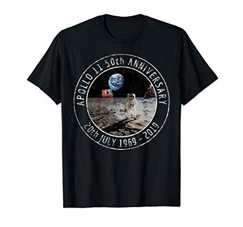 - Apollo 11 50th Anniversary Moon Landing 1969 2019 Distressed T-Shirt