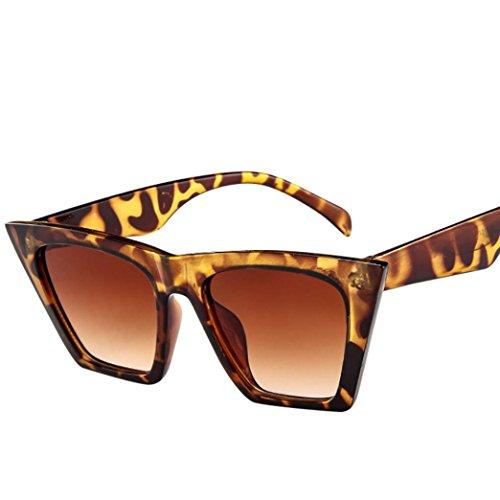 Occhio Oversized UV Cat signore sole sole Gatto Sun retrò per da Donne Marrone 400 Occhiali da Sunglasses Occhiali Le Oversized Eyewear vintage qZYUvxY