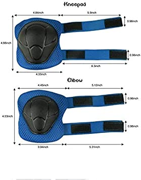 XingCheng-Sport Kids Protective Gear Set Outdoor Sports Protective Gear Set for Cycling Roller Skating Skateboard with Helmet Knee Pads Elbow Pads Wrist Guard