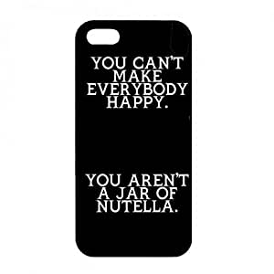 Nutella chocolate iPhone 5/iPhone 5S, Nutella chocolate Phone Funda, Nutella chocolate Hard Plastic Black Cover