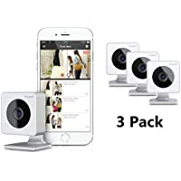 EVO HD Smart Home Wireless Security Camera – Night Vision – Free Cloud Storage – Motion Alerts – Hidden Nanny and Surveillance Camera – Easy Set up - 3 Pack
