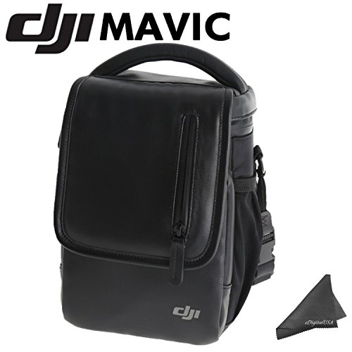 DJI Shoulder Bag for Mavic Quadcopter & eDigitalUSA Microfiber Cleaning Cloth