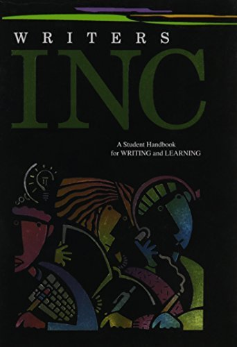 Writers INC: A Student Handbook for Writing and Learning (Great Source Writer's Inc) by Patrick Sebranek (2005-08-22)