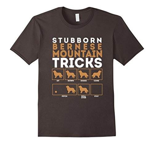 Men's Stubborn Bernese Mountain Dog Training Tricks T-Shirt Tee 2XL Asphalt