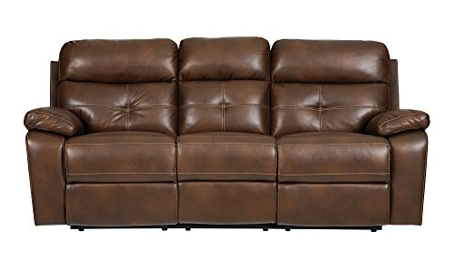 Sofa Sectional Asian (Coaster Home Furnishings Damiano Motion Sofa with Button Tuft Detailing Milk Chocolate)