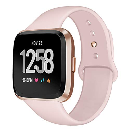 - Kmasic Sport Band Compatible with Fitbit Versa, Soft Silicone Strap Replacement Wristband Versa Smart Fitness Watch Small Large