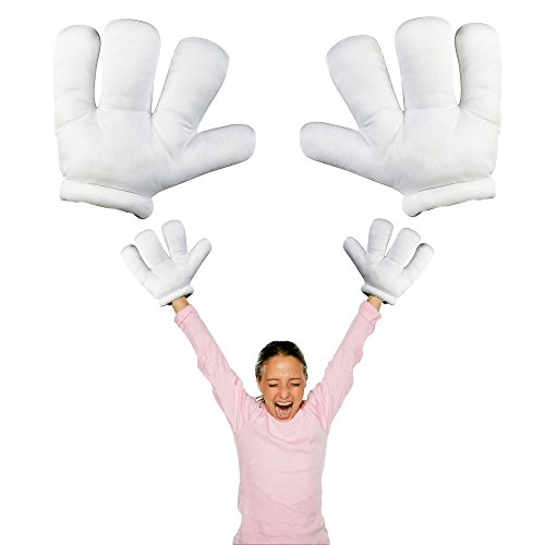 Halloween Hands - Toy Cubby Jumbo Cartoon White Plush Hands - 1 Pair - While Adding This To Your Cart, You are Joining The Lucky Team Of Satisfied Toy Cubby (Cartoon Hands Costume)