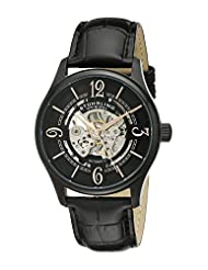 Stuhrling Original Men's 992.02 Legacy Automatic Skeleton Black Watch with Leather Strap by Stuhrling Original