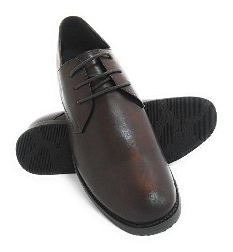 Zerimar Schuhe für Männer Erhöhen auf Unsichtbare Weise Ihre Körpergrösse, Höhe Steigerung, Versteckter anhebender Ferse, Erhöht Ihre Höhe bis zu + 7 cm 100% Leder Braun