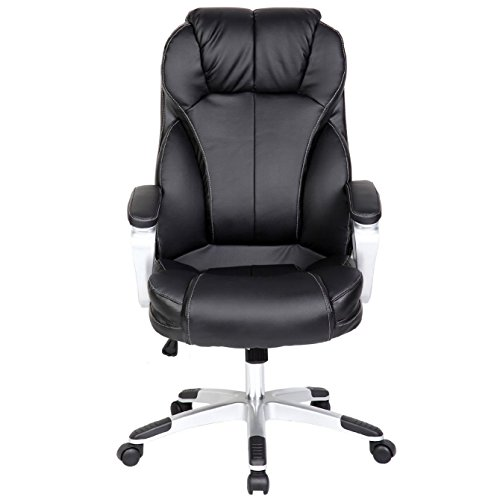 2xhome deluxe professional pu leather tall and big for Big comfy leather chair