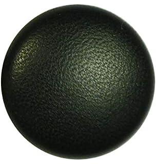 Lederknopf Lederknöpfe 12,5 mm sandbraun dunkel  Echtleder bezogen