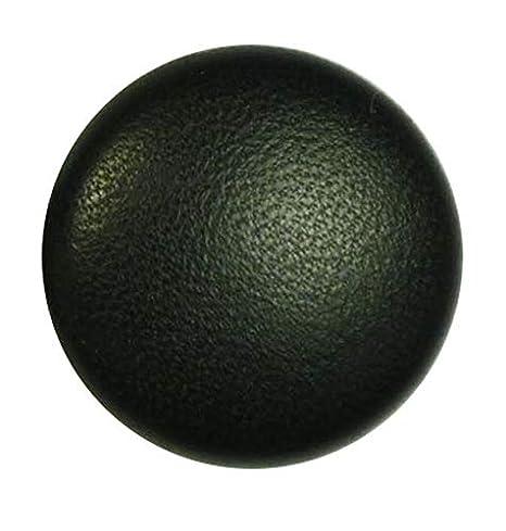 Lederknopf Lederknöpfe 33 mm schwarz Echtleder bezogen