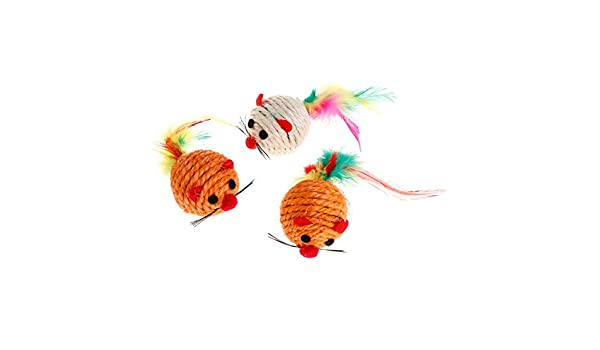 Amazon.com : Best Quality cat Toys False Mouse Ball sisal Hemp Scratch chew Resistance pet Toy Dog Puppy Kitten Play Interactive dec-6a : Pet Supplies