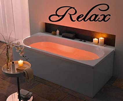Amazon Com Relax Vinyl Wall Art Decal Wall Sayings Sticker