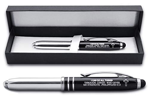 Philippians 4:13 Religious Gift Pen with Engraved Bible Verse -