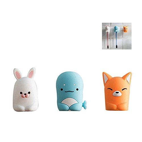 Silicona Copa de succión cepillo de dientes titular, 3 pcs, diseño de soportes para cepillo de dientes, diseño de Stitch: Amazon.es: Hogar