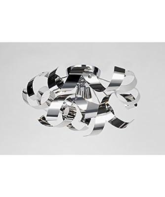 "Artcraft Lighting Bel Air 19"" Flush Mount, Chrome"