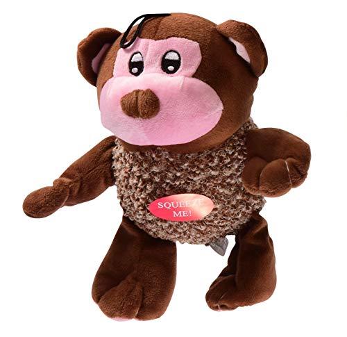 Gor Pets Hugs Bunch Family Tennis Ball Tummy & Squeaker Puppy Dog Throw Fetch Toy - Monkey (26cm)