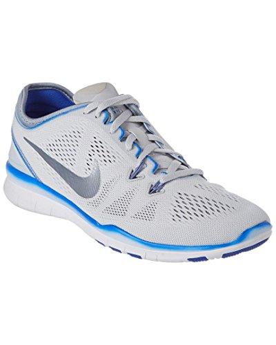 Zapatillas De Entrenamiento Nike Mujeres Free 5.0 Tr Fit 5 Prt Mujeres Ee. Uu. Pltnm / Mtlc Cl Gry / Rcr Bl / Wh