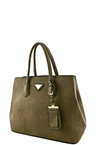 womens-designer-faux-leather-rear-zipper-pocket-top-handle-bag-va2003-olive