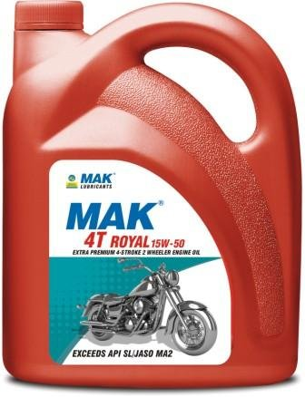Mak Lubricants Bharat Petroleum 4t 15w 50 Engine Oil For Royal