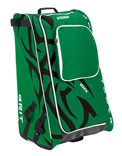 Grit Inc HTFX Hockey Tower 36'' Wheeled Equipment Bag Green HTFX036-DA (Dallas) by Grit