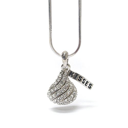 Hershey Jewelry - Lola Bella Gifts Crystal Chocolate Kiss Necklace with Gift Box