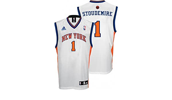 80c18d18f4839 Amazon.com   NBA adidas Amare Stoudemire New York Knicks Youth Revolution 30  Replica Performance Jersey - White   Sports Fan Jerseys   Sports   Outdoors