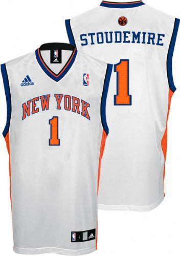 Amar e Stoudemire Youth Jersey  adidas Revolution 30 White Replica  1 New  York 3a6bb6857