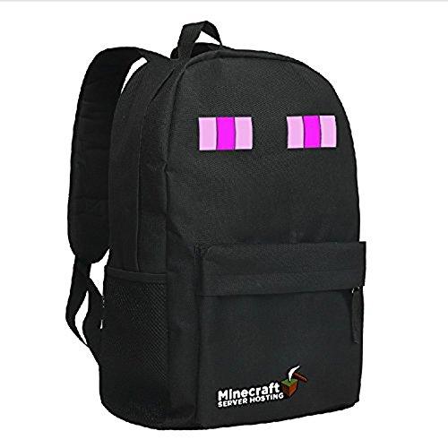 Minecraft Creeper Backpack Black 1#
