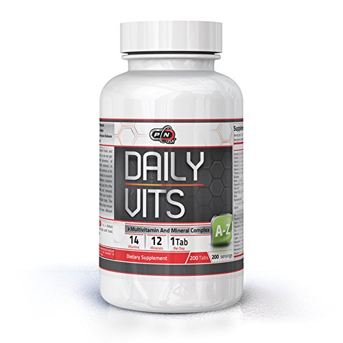 Pure Nutrition USA Daily Vits Multivitamins Minerals Sports Dietary Supplement Pack Men Women 200 Tabs