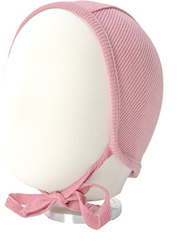 B&D Baby Bonnet: Soft Cotton Pilot Hat For Newborns, Infants, Toddlers  Ribbed Beanie With String Ties In 4 Colors  Fitted Baby Cap For Girls & Boys  Ideal For Christenings, Baby Showers, Birthdays