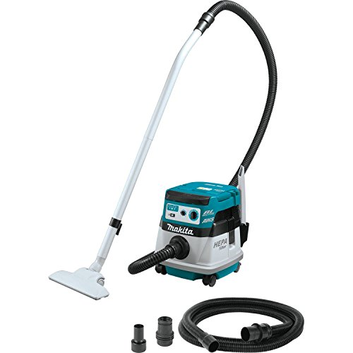 Makita XCV08Z 18V X2 LXT Lithium-Ion (36V) Brushless Cordless 2.1 Gallon HEPA Filter Dry Dust Extractor/Vacuum, with AWS, Tool Only