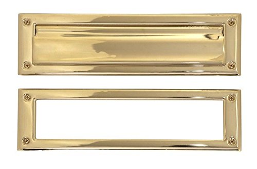 BRASS Accents A07-M0030-PVD Mail Slot, 3 5/8