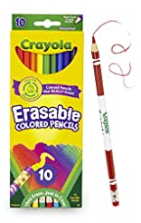 Crayola Erasable Colored Pencils, 10 Non...