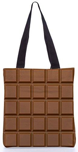 Snoogg Chocolate13.5 x 15 Zoll-Shopping-Dienstprogramm-Einkaufstasche aus Polyester-Segeltuch gemacht